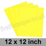 Rapid Colour Paper, 120gsm, 305 x 305mm (12 x 12 inch), Canary Yellow