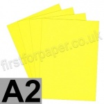 Rapid Colour Paper, 120gsm,  A2, Canary Yellow
