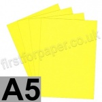 Rapid Colour Paper, 120gsm,  A5, Canary Yellow