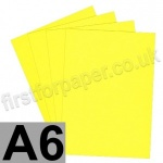 Rapid Colour Paper, 120gsm,  A6, Canary Yellow