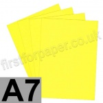 Rapid Colour Card, 225gsm, A7, Canary Yellow