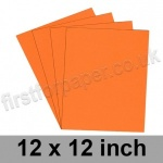 Rapid Colour Paper, 120gsm, 305 x 305mm (12 x 12 inch), Fantail Orange