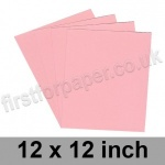 Rapid Colour Card, 160gsm, 305 x 305mm (12 x 12 inch), Flamingo Pink