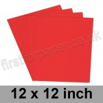 Rapid Colour Paper, 120gsm, 305 x 305mm (12 x 12 inch), Robin Red