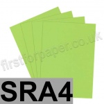 Rapid Colour Paper, 120gsm, SRA4, Lime Green