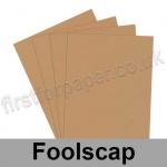Rapid Colour Paper, 120gsm, 203 x 330mm (Foolscap), Nougat Brown