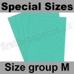 Rapid Colour Card, 160gsm, Special Sizes, (Size Group M), Ocean Green