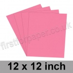 Rapid Colour Paper, 120gsm, 305 x 305mm (12 x 12 inch), Rose Pink