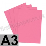 Rapid Colour Paper, 120gsm, A3, Rose Pink