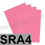 Rapid Colour Paper, 120gsm, SRA4, Rose Pink