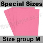 Rapid Colour Paper, 120gsm, Special Sizes, (Size Group M), Rose Pink