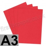 Rapid Colour Paper, 120gsm, A3, Rouge Red