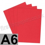 Rapid Colour Paper, 120gsm, A6, Rouge Red