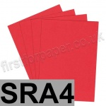 Rapid Colour Paper, 120gsm, SRA4, Rouge Red