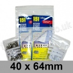 Write-on Grip Seal Bags, 40 x 64mm (approx 1.5 x 2.5 inch) - per 100 bags