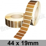 Metallic Gold, Self Adhesive Labels, 44 x 19mm, Permanent Adhesive - Roll of 5,000