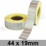Metallic Silver, Self Adhesive Labels, 44 x 19mm, Permanent Adhesive - Roll of 5,000