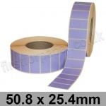 Lavender Semi-Gloss, Self Adhesive Labels, 50.8 x 25.4mm, Permanent Adhesive - Roll of 5,000
