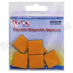 19mm square, Self Adhesive Magnetic Squares - Pack of 6