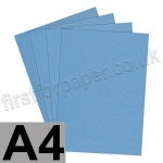 Stardust Glitter Card, 285gsm, French Blue, A4 - 5 sheets