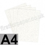 Stardust Glitter Card, 285gsm, White, A4 - 5 sheets