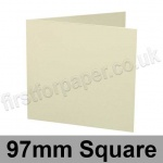 Advocate Smooth, Pre-creased, Single Fold Cards, 250gsm, 97mm Square, Natural White