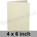 Advocate Smooth, Pre-creased, Single Fold Cards, 250gsm, 102 x 152mm (4 x 6 inch), Natural White