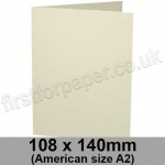 Advocate Smooth, Pre-creased, Single Fold Cards, 250gsm, 108 x 140mm (American A2), Natural White