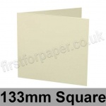 Advocate Smooth, Pre-creased, Single Fold Cards, 250gsm, 133mm Square, Natural White