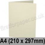 Advocate Smooth, Pre-creased, Single Fold Cards, 250gsm, 210 x 297mm (A4), Natural White