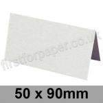 Brampton Felt Marked, Pre-Creased, Place Cards, 280gsm, 50 x 90mm, Extra White