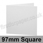 Brampton Felt Marked, Pre-Creased, Single Fold Cards, 280gsm, 97mm Square, Extra White