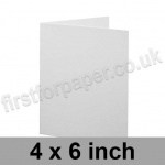 Brampton Felt Marked, Pre-Creased, Single Fold Cards, 280gsm, 102 x 152mm (4 x 6 inch), Extra White
