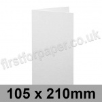 Brampton Felt Marked, Pre-Creased, Single Fold Cards, 280gsm, 105 x 210mm, Extra White