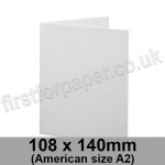 Brampton Felt Marked, Pre-Creased, Single Fold Cards, 280gsm, 108 x 140mm (American A2), Extra White