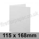 Brampton Felt Marked, Pre-Creased, Single Fold Cards, 280gsm, 115 x 168mm, Extra White