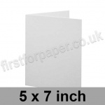 Brampton Felt Marked, Pre-Creased, Single Fold Cards, 280gsm, 127 x 178mm (5 x 7 inch), Extra White