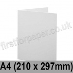 Brampton Felt Marked, Pre-Creased, Single Fold Cards, 280gsm, 210 x 297mm (A4), Extra White