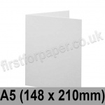 Brampton Felt Marked, Pre-Creased, Single Fold Cards, 280gsm, 148 x 210mm (A5), Extra White