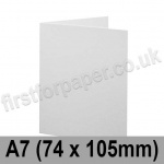 Brampton Felt Marked, Pre-Creased, Single Fold Cards, 280gsm, 74 x 105mm (A7), Extra White