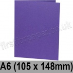 Colorset Recycled, Pre-creased, Single Fold Cards, 270gsm, 105 x 148mm (A6), Amethyst