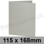 Colorset Recycled, Pre-creased, Single Fold Cards, 270gsm, 115 x 168mm, Light Grey