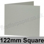 Colorset Recycled, Pre-creased, Single Fold Cards, 270gsm, 122mm Square, Light Grey