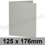 Colorset Recycled, Pre-creased, Single Fold Cards, 270gsm, 125 x 176mm, Light Grey