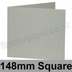 Colorset Recycled, Pre-creased, Single Fold Cards, 270gsm, 148mm Square, Light Grey