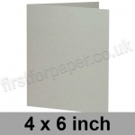 Colorset Recycled, Pre-creased, Single Fold Cards, 270gsm, 102 x 152mm (4 x 6 inch), Light Grey