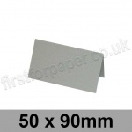 Colorset Recycled, Pre-creased, Place Cards, 270gsm, 50 x 90mm, Light Grey