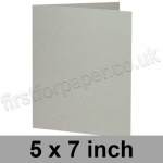 Colorset Recycled, Pre-creased, Single Fold Cards, 270gsm, 127 x 178mm (5 x 7 inch), Light Grey