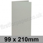 Colorset Recycled, Pre-creased, Single Fold Cards, 270gsm, 99 x 210mm, Light Grey