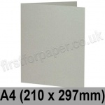 Colorset Recycled, Pre-creased, Single Fold Cards, 270gsm, 210 x 297mm (A4), Light Grey